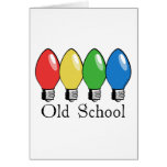 Old School Christmas Tree Lights Cards