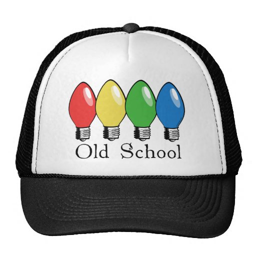 Old School Christmas Tree Lights Trucker Hat Zazzle