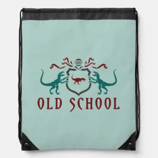 Old School Color Dinosaur Drawstring Bag