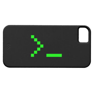 Old School Computer Text Input Prompt iPhone 5 Cover