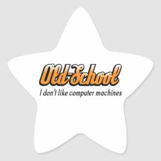 OLD SCHOOL COMPUTERS STAR STICKER