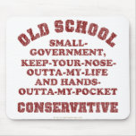 Old School Conservative Mouse Pad