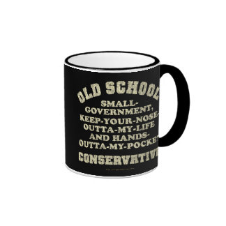 Old School Conservative Ringer Coffee Mug
