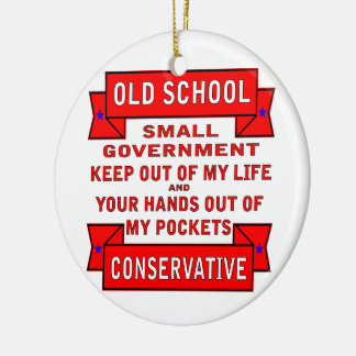 Old School Conservative Ornament