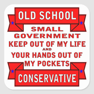 Old School Conservative Square Sticker