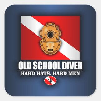 Old School Diver Sticker