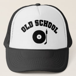 Old School DJ Record Player Trucker Hat