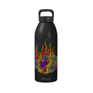 Old School Dragon Tattoo Drinking Bottles