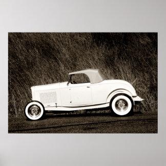 Old School Duece Roadster Poster