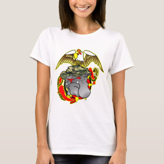 Old School Eagle Anchor & Bulldog T-Shirt