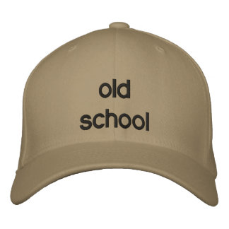 old school embroidered hat