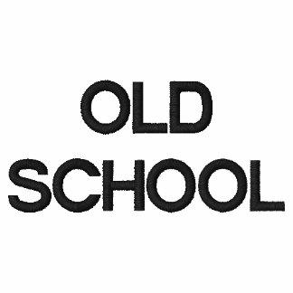 OLD SCHOOL embroidered sweatshirt