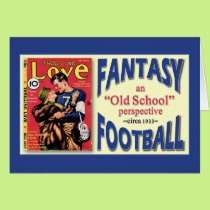 Old School Fantasy Football Card