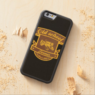 Old school farmer carved maple iPhone 6 bumper case