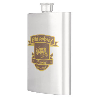 Old school farmer hip flask