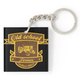 Old school farmer keychain