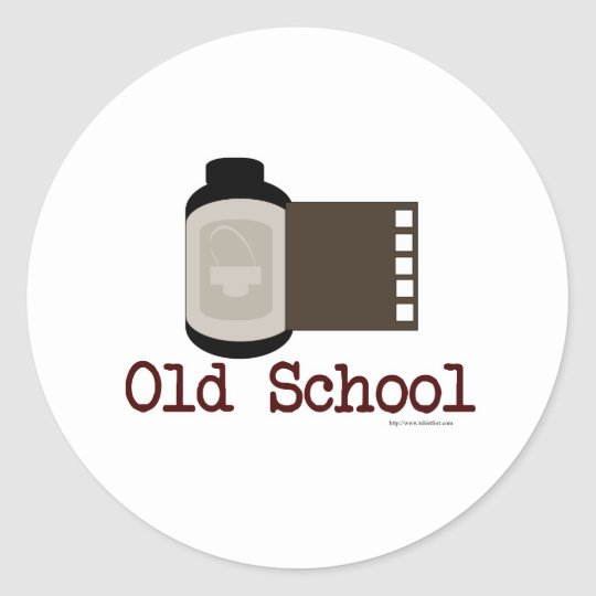 Old School Film Fan Classic Round Sticker