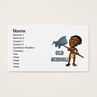 Old School Fishing 3 Business Card