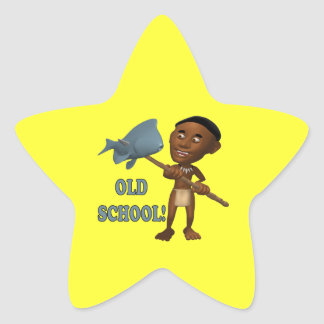 Old School Fishing 3 Star Sticker