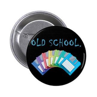 old school floppy disks pinback button