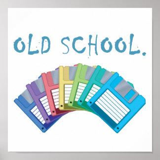 old school floppy disks poster