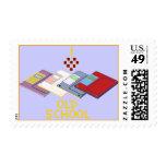 old school floppy postage stamp