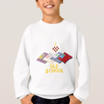 old school floppy sweatshirt