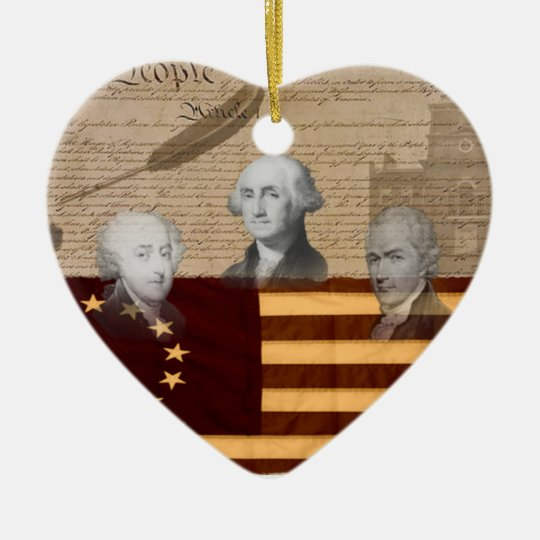 OLD SCHOOL FOUNDING FATHERS CERAMIC ORNAMENT