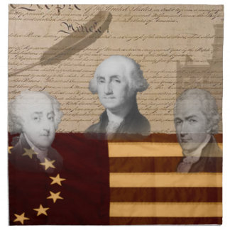 OLD SCHOOL FOUNDING FATHERS NAPKIN