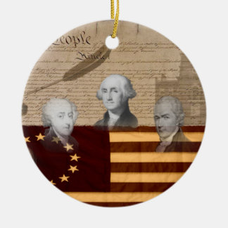 OLD SCHOOL FOUNDING FATHERS CHRISTMAS TREE ORNAMENTS