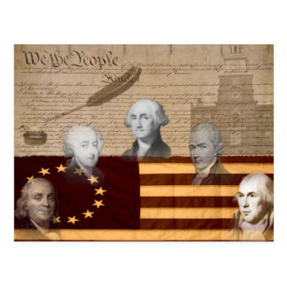 OLD SCHOOL FOUNDING FATHERS POSTCARD