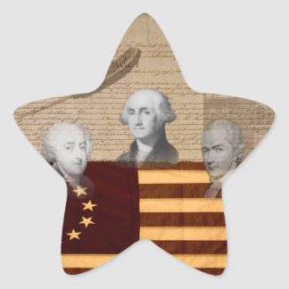 OLD SCHOOL FOUNDING FATHERS STAR STICKER