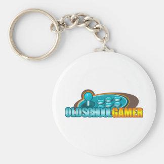 Old School Gamer Arcade Stick Buttons Keychain
