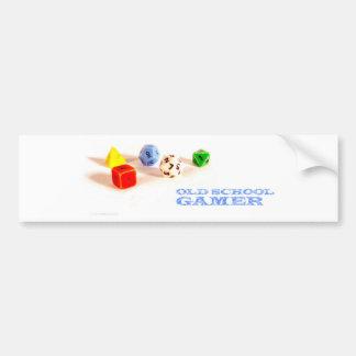 Old School Gamer • Bumper Sticker Car Bumper Sticker