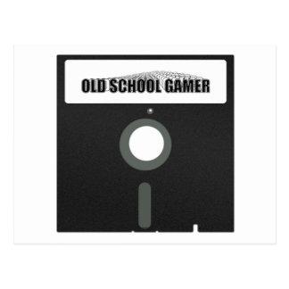 Old School Gamer Postcard