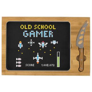 Old School Gamer - Spaceship - Cheese Board