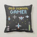 Old School Gamer - Stellarship - Throw Pillow