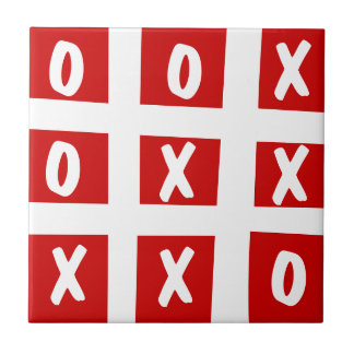 Old School Gaming Tic-Tac-Toe Ceramic Tile
