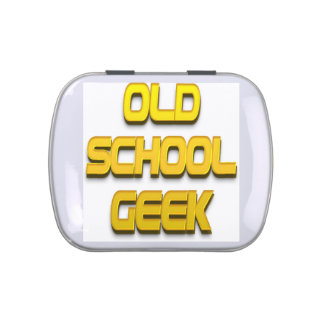 Old School Geek Gold Jelly Belly Candy Tin