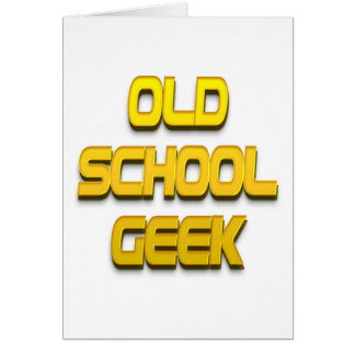 Old School Geek Gold Greeting Cards