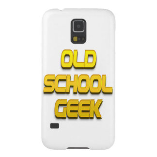 Old School Geek Gold Case For Galaxy S5