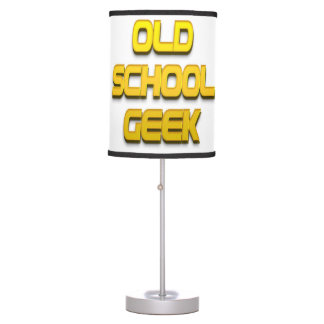 Old School Geek Gold Table Lamps