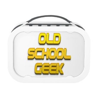 Old School Geek Gold Yubo Lunchboxes