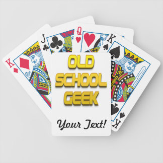 Old School Geek Gold Playing Cards
