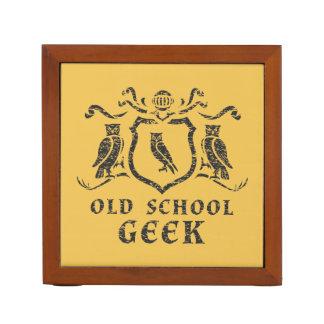 Old School Geek Owl Desk Organizer