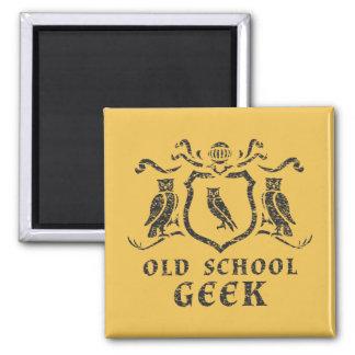 Old School Geek Owl Magnet