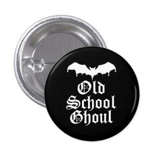 Old School Ghoul Goth Bat Button
