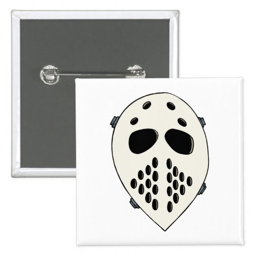Old School Goalie Mask Buttons