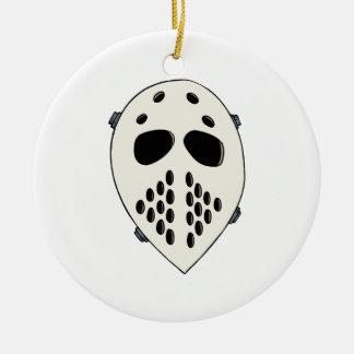 Old School Goalie Mask Ornament