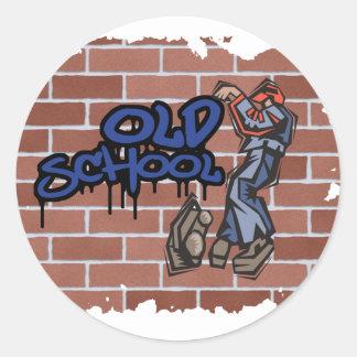old school graffiti  design  classic round sticker